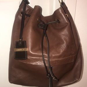 A.Bellucci Leather Bucket Bag